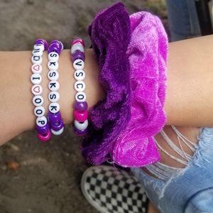 VSCO Sksksk And I Opp Pony Bead Kandi Bracelet